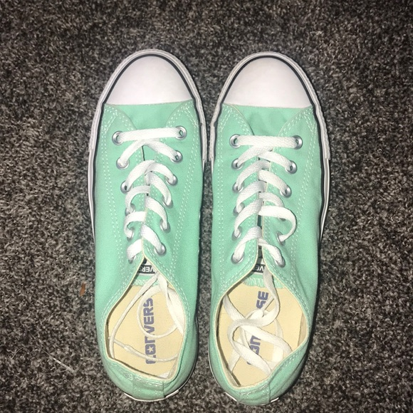 Converse Shoes - Women s Sea Foam Green Low Rise Converse f2ce30bf3